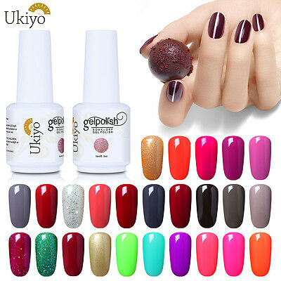 Ukiyo Classic Range 15ml Soak Off UV Gel Nail Polish No Wipe Top Base Coat