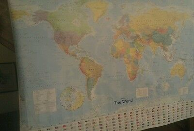 Collins World Wall Map NEW 9780007920495 Ideal for office, students, kids wall.