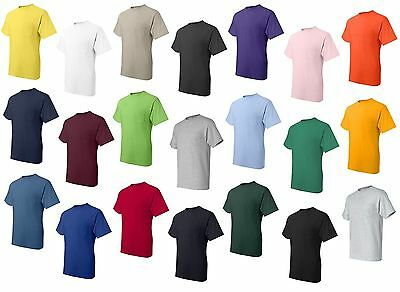 Hanes - Beefy-T® Short Sleeve Pocket T-Shirt - 100% Cotton 5190 Mens S-3XL Tee
