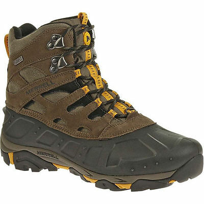 Merrell Moab Polar Mens Brown Waterproof Snow Winter Hike Leather Boots