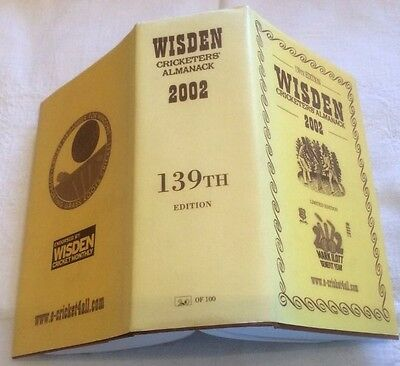 Wisden Limited Edition one of Only 100 Copies ** RARE **  2002