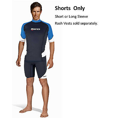 Mares Men's Rash Guard SHORTS - Trilastic Polyester, Spandex, UF50+ New!