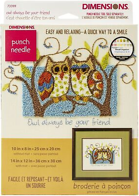 """Dimensions 73399 Owl Always Be Your Friend Punch Needle Kit-10""""X8"""""""