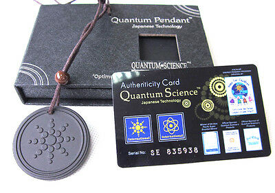 NEW Scalar Bio Energy Quantum Pendant Necklace Chain + Authenticity Card