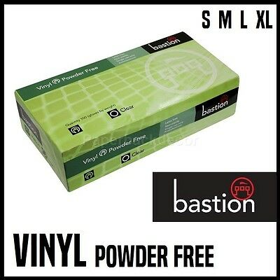 Bastion Vinyl Gloves Disposable Kitchen Cleaning Medical Powder Free Examination