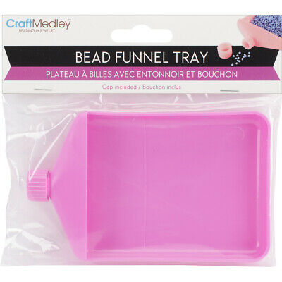 "Multicraft Imports BT252 Bead Funnel Tray-4.75""X3""X.625"" (6Pk)"