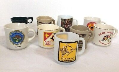 BSA Boy Scouts Vintage Coffee Mugs Lot Jamboree Philmont