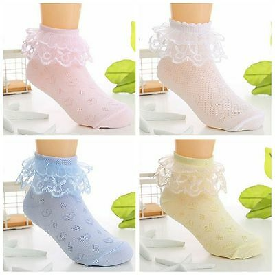 Sweet Girls Kids Lace Ruffle Cotton Short Baby Ankle Socks