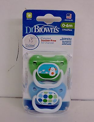 Dr. Brown's Prevent 0-6 Months 2 Pack Orthodontic Pacifier