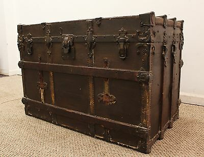 Antique Steam Punk Drucker Steamer Trunk/Chest circa 1897