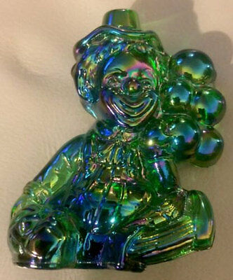 Vintage Mosser Carnival Glass ~ Koko The Clown Figurine 1981