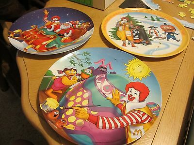 Lot of 3 McDonalds Commemorative Plates - 1977 - 1998 - 1997 !