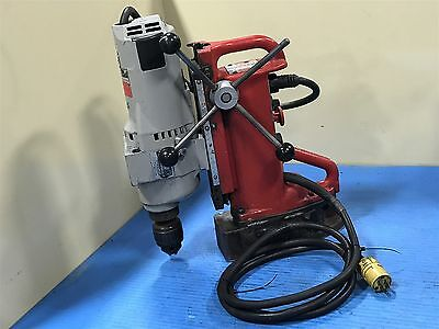 Used Milwaukee 4203 Electromagnetic Drill Press With Drill Motor 4297 1-1/4 (R1)
