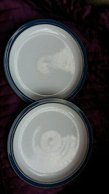 Denby Imperial Blue sideplates 8.25 inches x 2 good used condition.