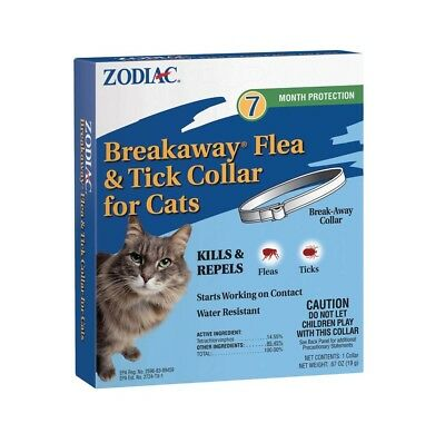 Zodiac Breakaway Flea & Tick Cat Collar | Kills & Repels Bugs | Water Resistant