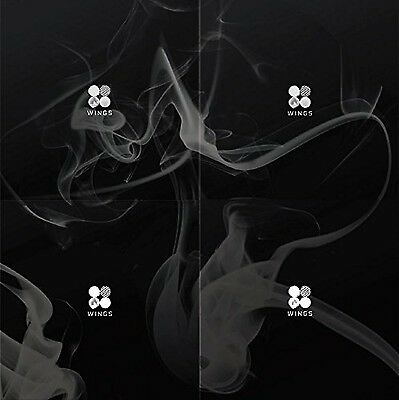 BTS - WINGS (Vol.2) [N ver.] CD with Folded Poster Extra Gift Photocard Set NEW