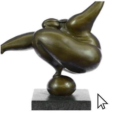 Vintage Abstract Modern Art Cast Bronze Sculpture Statue Figurine1