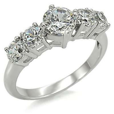 Womens stainless steel engagement ring Size 10