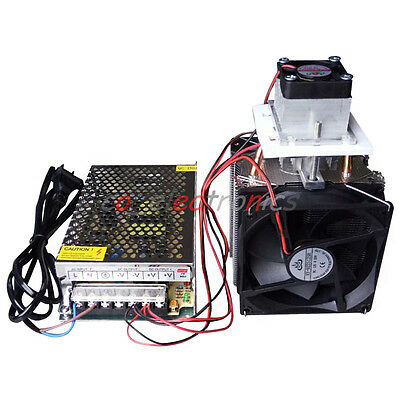 Semiconductor Refrigeration Thermoelectric Peltier DIY Air Cooling Device+Power