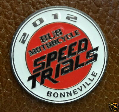 Collector Pin...2012 SPEED TRIALS BUB Motorcycles Bonneville
