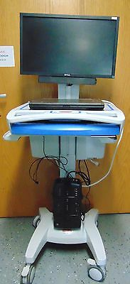 Rubbermaid Medical Solutions Mobile Medical Cart 1854485 W/ Dell Labtop ~ R890x