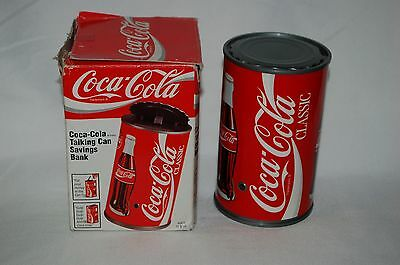 Vintage 1997 Coca Cola Coke Talking Can Savings Bank FAST FREE SHIPPING