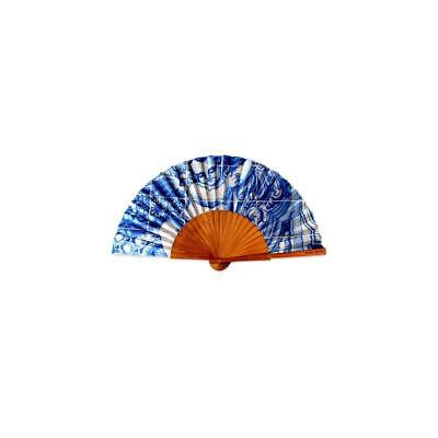 18th Century Angel Tile Hand Fan Made In Portugal