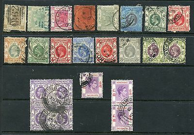 Weeda Hong Kong 8//164A Used collection, QV-KGVI 1863-1948 issues CV $123.35