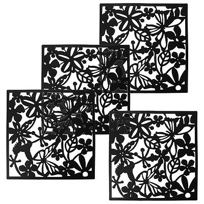 Y30 Fashion 4 Pcs Butterfly Bird Flower Hanging Screen Partition Divider Panel R