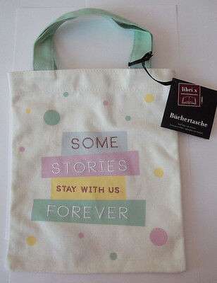 e.w Büchertasche Some stories stay with us forever Buch Tasche unterwegs Moses