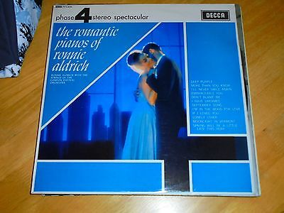 Lp/ The Romantic Pianos Of Ronnie Aldrich (1964 Uk Decca Phase 4 Stereo