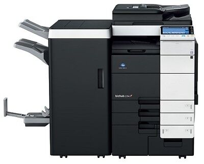 Konica Minolta Bizhub C654 color copier w/Booklet Finisher- Only 170k
