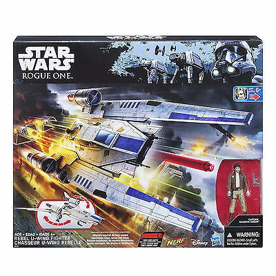 Star Wars Nerf Rogue One Rebel U-Wing Fighter Ship NEW Toys Collectible