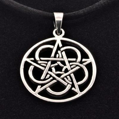 Ringed Pentacle Sterling Silver Pendant
