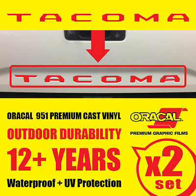 NEW TOYOTA TACOMA RED Vinyl Decals Tailgate Letters Insert