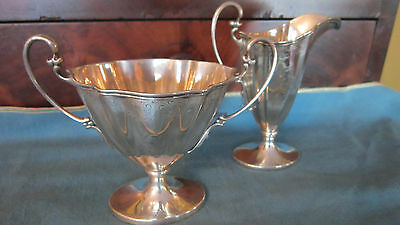 Antique Sterling Silver Cream & Sugar set Philadelphia PA Davis & Galt 1888-1896