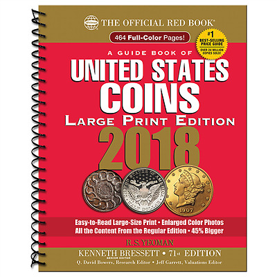 2018 RED BOOK - Price Guide of U.S. Coins - LARGE PRINT - WHITMAN
