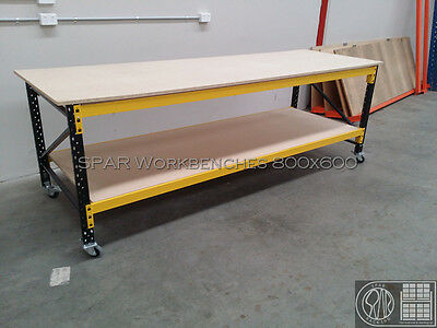 Workbench Mobile - 3120Wx900Hx900D. 2 beam levels. $283 pick up. No board.
