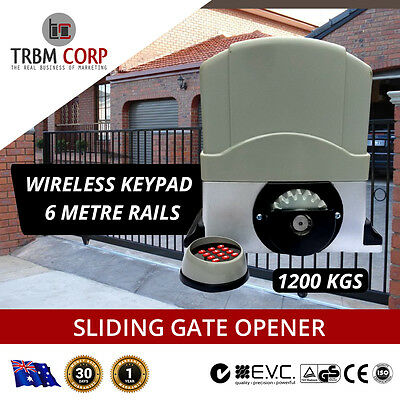 Automatic Sliding Gate Opener 1200KG 6 Meters Home Personal Security 2 X Remote