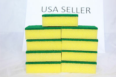 Lot of 60pcs Kitchen Sponges Scrubber Scrub Scourer for Washing Cleaning Dishes