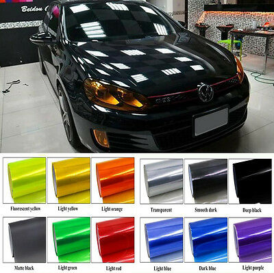 12 Color Sports Glossy Tint Headlight Taillight Fog Wrap Sheet Protector Sticker