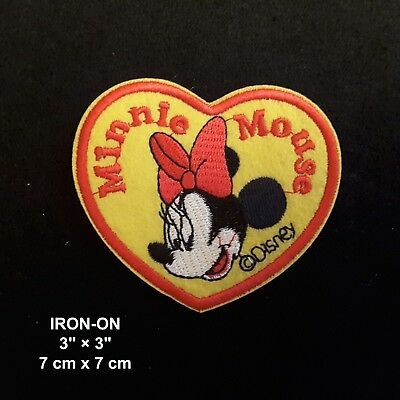 Minnie Mouse Heart Cartoon Mickey Character Embroidered Iron On Applique Patch