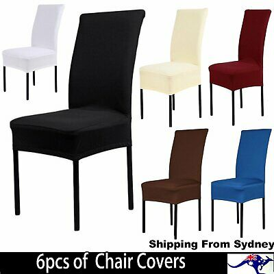 6x Stretch Chair Cover Seat Covers Spandex Lycra Washable Banquet Wedding Party