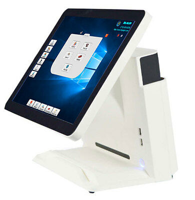 """All in one point of sale terminal 15"""" Touch Flat Panel WIN 10 with software"""