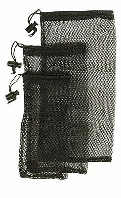 3 BLACK MESH NETTING NET STORAGE DITTY BAG SET fish fishing bait bags camping