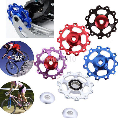 Newly 11T MTB Bike Aluminium Bearing Bicycle Rear Derailleur Jockey Wheel Pulley