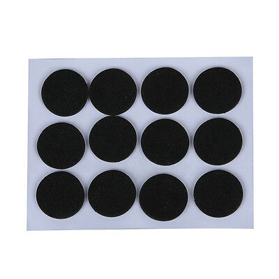 12 Pcs Round Black Foam Nonslip Legs Pad for Laptop Notebook N3R8