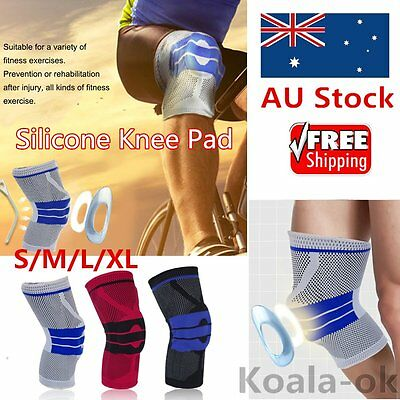 Comfortable Anti-Slip Silicone Adult Knee Pads Baskeball Football Knee Guard ds
