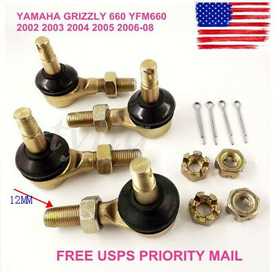 2 Sets of TIE ROD END KIT YAMAHA GRIZZLY 660 YFM660 2002 2003 2004  2006-08