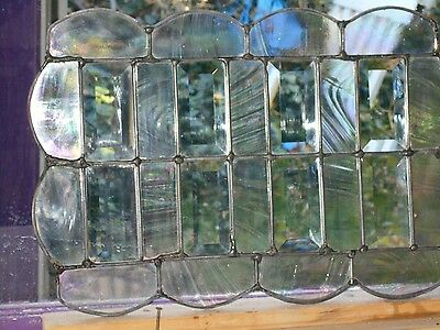 Stained Glass Window Panel Suncatcher   Beveled Beauty Made Of Vintage Glass